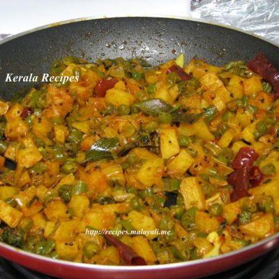 Beans & Potato Mezhukkupuratti
