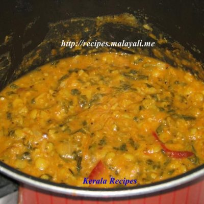 (Dal Palak) Cheera Parippu curry