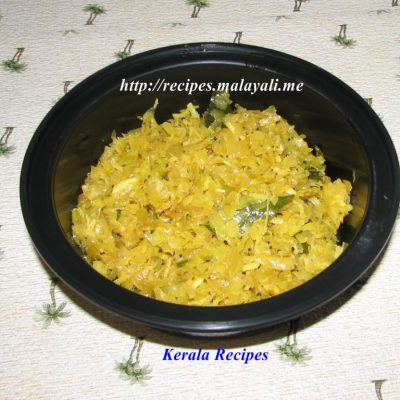 Cabbage Stir Fry (Mezhkkupuratti/Upperi/Poriyal)
