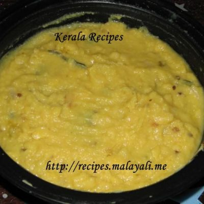 Cheru Payaru Parippu (Moong Dal) Curry