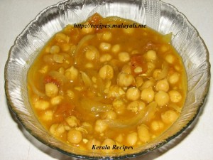 White Chickpeas - Kadala Curry