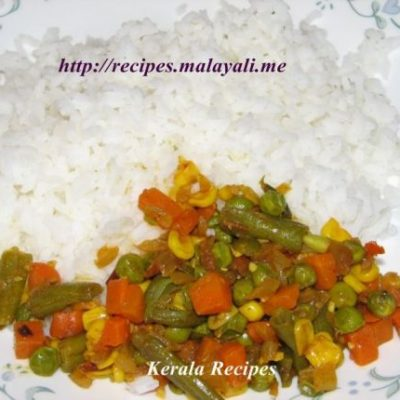 Mixed Vegetable Mezhkkupuratti