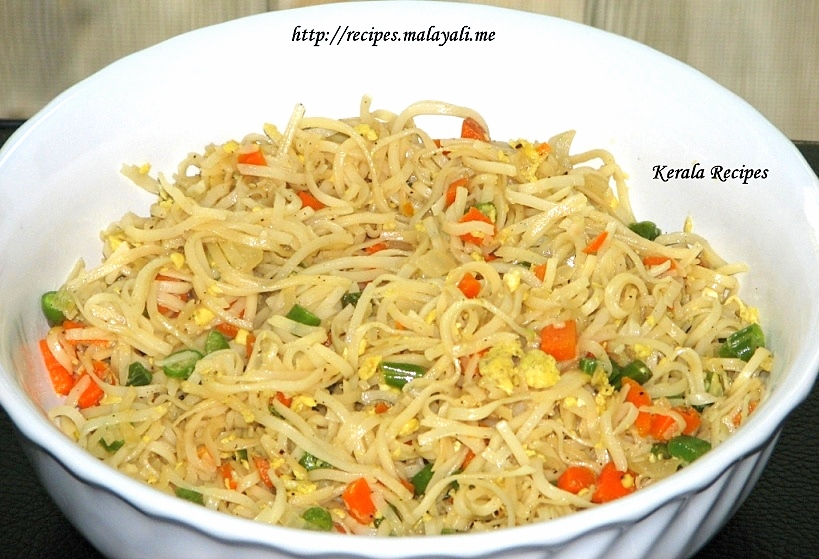 Egg Noodles Kerala Recipes