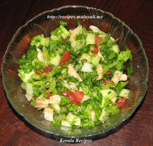 Lettuce And Chicken Salad Kerala Recipes
