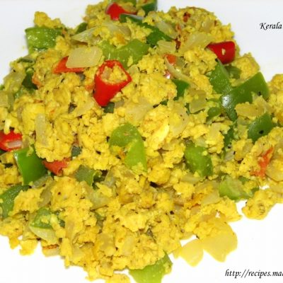 Scrambled Capsicum and Eggs (Burji)