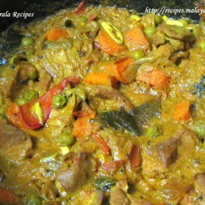 Mixed Chicken & Vegetable Curry in Coconut Milk