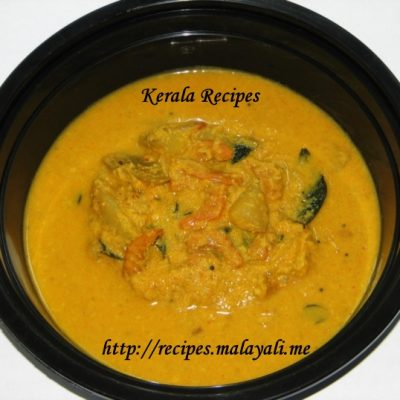 Chemmeenum Manga Curry (Dried Prawns Mango Curry)