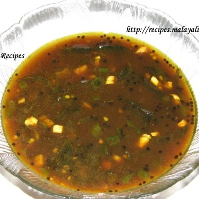Mulaka Pachadi (Green Chillies in Tamarind & Jaggery sauce)