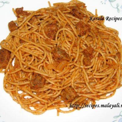 Sun Dried Tomatoes & Sausage Spaghetti