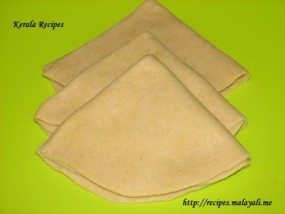 Triangle Shaped Folded Dough