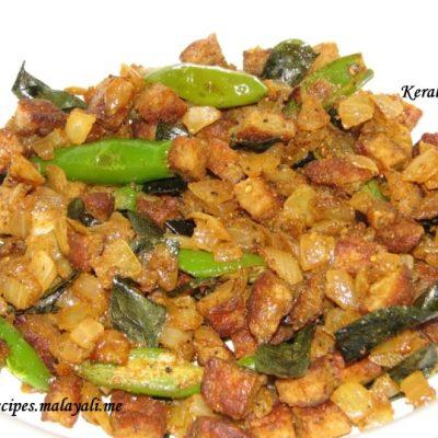 Sausage Crumble Stir Fry (Sausage Ulathiyathu)