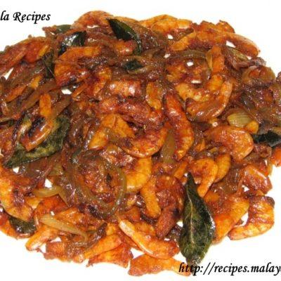 Unakka Chemmeen Varuthathu (Dried Prawns Stir Fry)