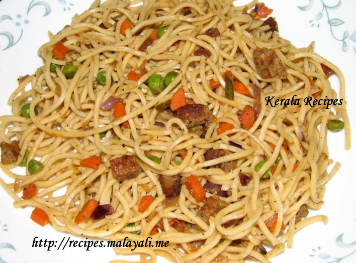 Sausage Noodles Kerala Recipes