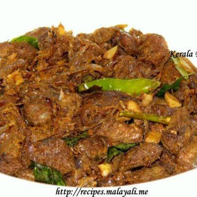 Kerala Beef Fry (Erachi Ulathiyathu)