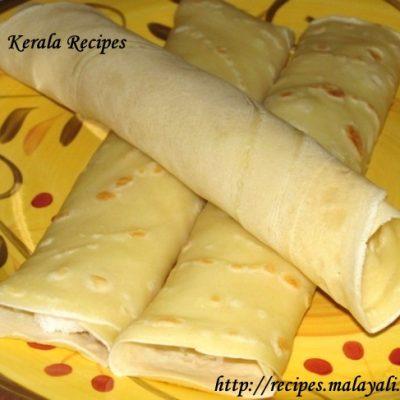 Mutta Kuzhalappam/Madakku San (Coconut Filled Crepes)