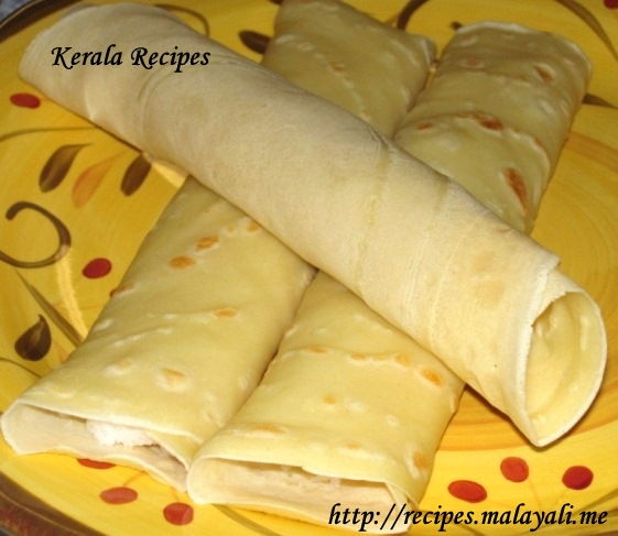 Mutta Kuzhalappam/Madakku San (Coconut Filled Crepes
