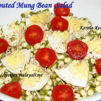 Sprouted Moong Beans and Boiled Egg Salad