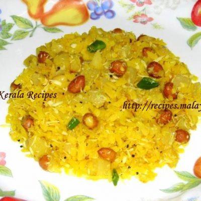 Batata Poha (Seasoned Rice Flakes and Potato)