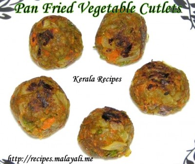 Pan Fried Vegetable Cutlets