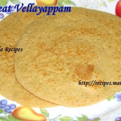 Godhambu Vellayappam (Fermented Wheat Pancakes)