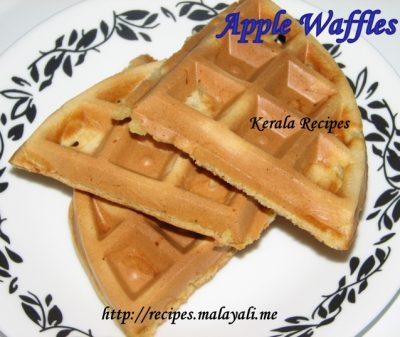 Shredded Apple Waffles