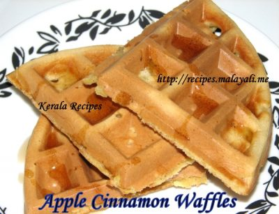 Cinnamon apple Wheat Waffles