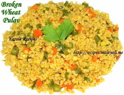 Broken Wheat Pulav