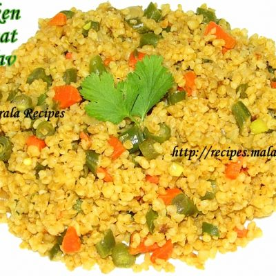 Cracked Wheat Pulav (Dalia Pulav)