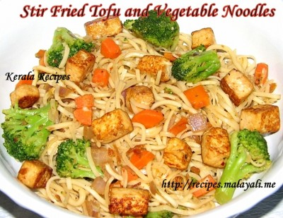 Stir Fried Tofu Vegetable Noodles