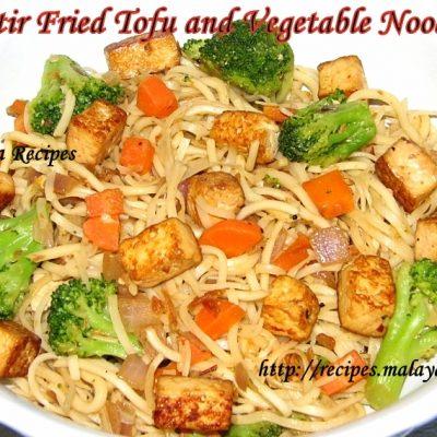 Stir Fried Tofu Vegetable Noodles