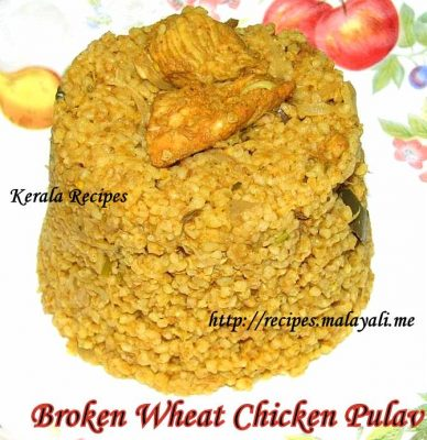 Broken Wheat Chicken Pulav