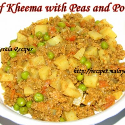 Beef Kheema (Minced Beef) with Peas and Potato Curry