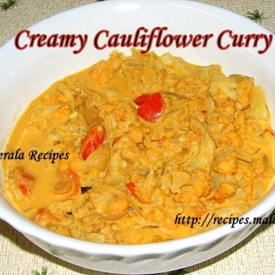 Creamy Cauliflower Curry