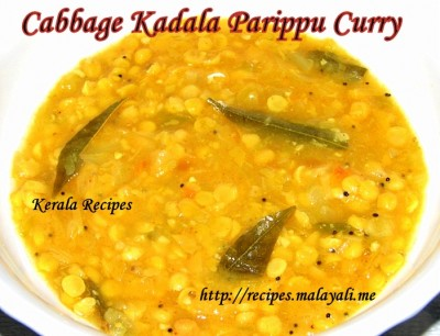 Cabbage Chana Dal Curry