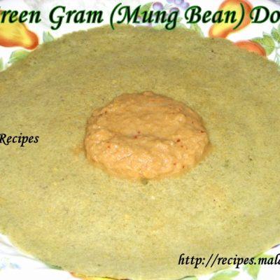 Green Gram Dosa (Mung Bean Pancakes)