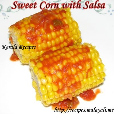Sweet Corn with Salsa
