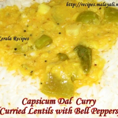 Capsicum Dal Curry (Curried Lentils with Bell Peppers)