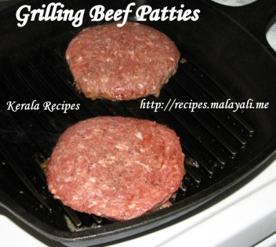 Grilling Beef Patties using Stove Top Grill Pan