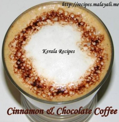 Cinnamon Spiced Coffee with Chocolate