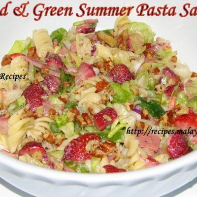 Red & Green Summer Pasta Salad