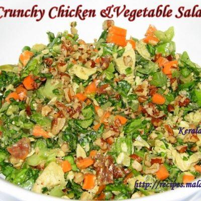 Crunchy Chicken & Vegetable Salad