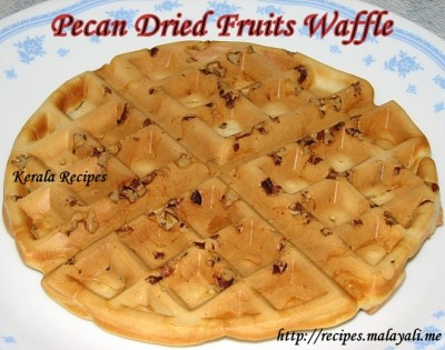 Breakfast Waffles with Pecans & Dried Fruits