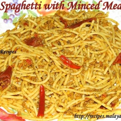Spaghetti with Minced Meat (Kheema)
