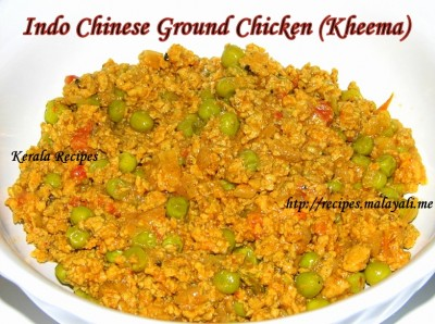 Indo Chinese Ground Chicken (Kheema)