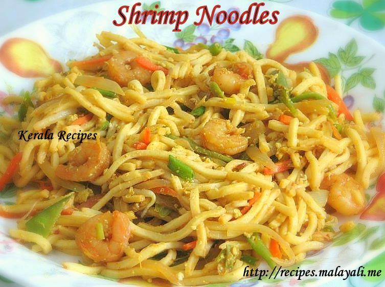 Masala Flavoured Shrimp Noodles Kerala Recipes