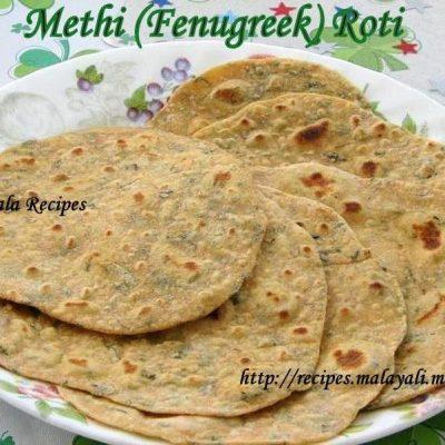 Methi (Fenugreek Leaves) Roti