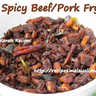 Spicy Beef/Pork Fry (Irachi Varuthathu)
