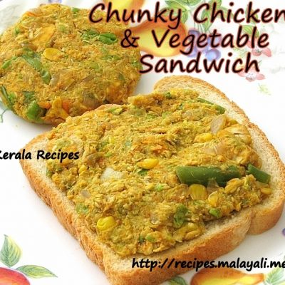 Chunky Chicken & Vegetable Sandwich