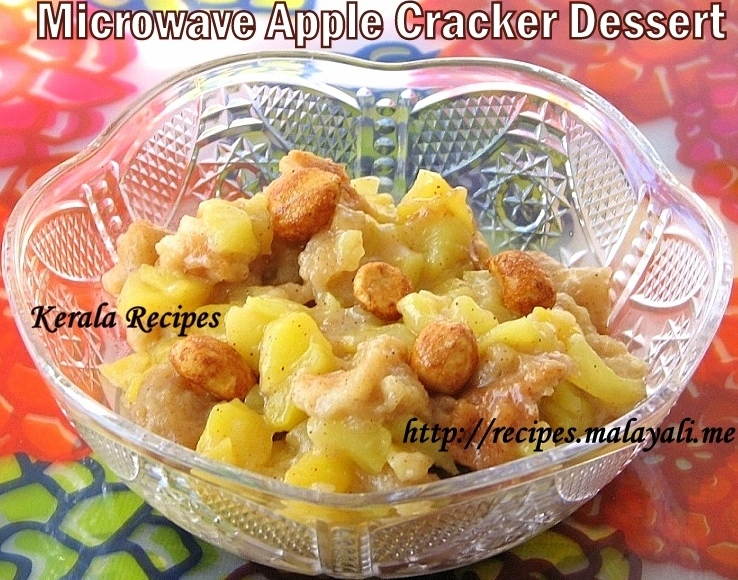 Microwave Apple Cracker Dessert