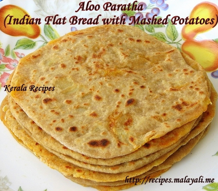 Aloo Paratha (Mashed Potato Stuffed Indian Flat Breads)